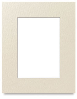 Savage Pre-Cut Mat - Ivory, 8'' x 10'' (5'' x 7'' Artwork Size)