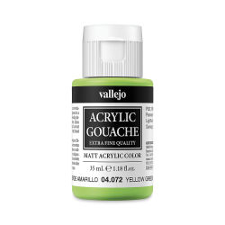 Vallejo Acrylic Gouache - Yellow Green, 35 ml