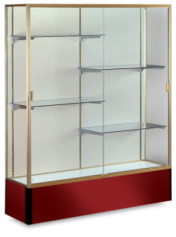 Spirit Series Display Case, Champagne Gold Frame