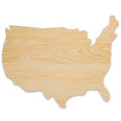 Hampton Art Unfinished Wood USA Map