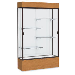 Waddell Reliant Series Display Case - Lighted Case, 48'', White Back