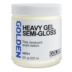 Golden Heavy Acrylic Gel Medium - Semi-Gloss, 8 oz jar