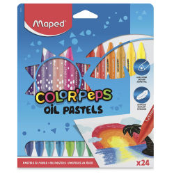 Maped Color'Peps Triangular Oil Pastels - Set of 24