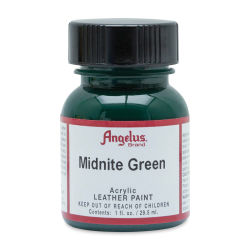 Angelus Acrylic Leather Paint - Midnite Green, 1 oz, Bottle