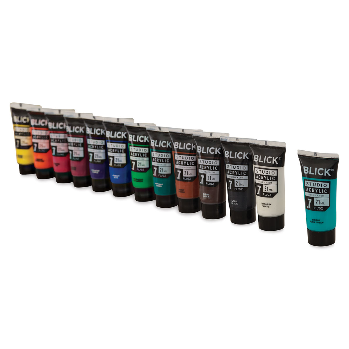 Blick Studio Acrylics - Set of 12 + Bonus Tube