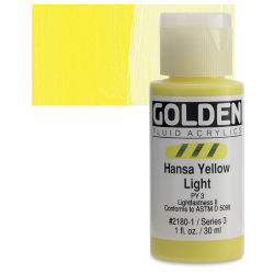 Golden Fluid Acrylics - Hansa Yellow Light, 1 oz bottle