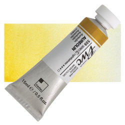 PWC Extra Fine Professional Watercolor - Aureolin, 15 ml, Swatch with Tube