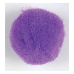 Acrylic Pom Pons - Pkg of 100, 1'', Purple