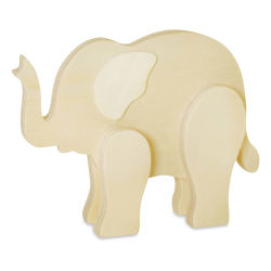 Craft Medley 3D Wood Shape - Elephant, 6""
