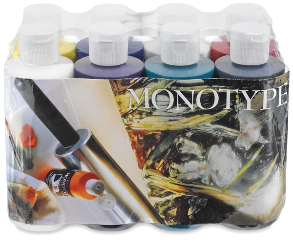 Createx Monotype Colors - Sampler Set of 8,  4 oz bottles