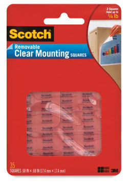 Removable Clear Mounting Squares, Package of 35