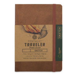Pentalic Recycled Traveler's Sketchbook - 5-7/8'' x 4-1/8'', Metallic Copper