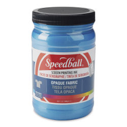 Speedball Opaque Iridescent Screen Printing Ink - Blue Topaz, 32 oz