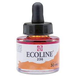 Ecoline Liquid Watercolor with Dropper - Deep Orange, 30 ml jar