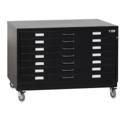 Bieffe BF Line Flat File - Black, 7-Drawer