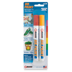 U-Mark Dr. Paint Reversible Tip Paint Markers - Set of 2, Red/Yellow