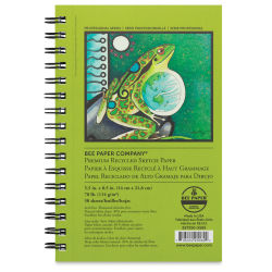 Bee Paper Premium Recycled Sketch Pad - 8-1/2'' x 5-1/2'', 50 Sheets