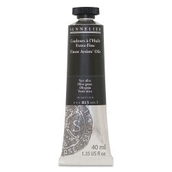 Sennelier Artists' Extra Fine Oil Paint - Olive Green, 40 ml tube