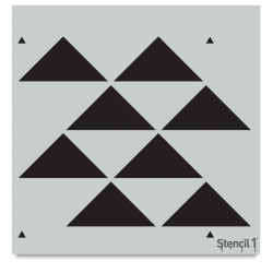 Stencil1 Stencil - Staggered Triangle, Repeat Pattern, 11'' x 11''