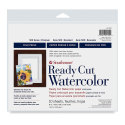 Strathmore Ready Cut Watercolor Sheets - 8'' x 10'', Cold Press, 10 Sheets