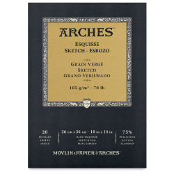 Arches Sketch Pad - 10'' x 14'', White, 20 Sheets