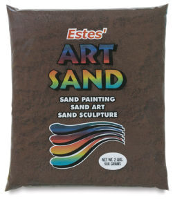 Estes' Colored Art Sand - 2 lb, Brown