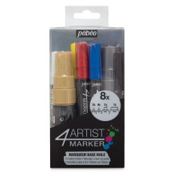 Pebeo 4Artist Marker - Assorted Colors, Set of 8, Assorted sizes