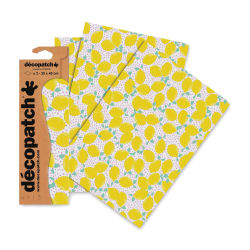 "DecoPatch Papers - Lemon, Package of 3, 12"" x 16"""
