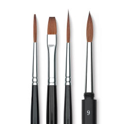 Da Vinci Russian Red Sable Brush - Flat Wash, Size 2, Short Handle