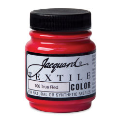 Jacquard Textile Color - True Red, 2.25 oz jar