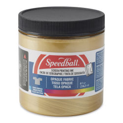 Speedball Opaque Iridescent Screen Printing Ink - Gold, 8 oz Jar