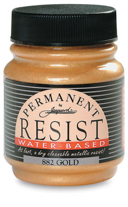 Jacquard Waterbased Resist - Gold, 2.25 oz jar