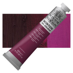 Winsor & Newton Winton Oil Color - Quinacridone Deep Pink, 200 ml, Tube with Swatch
