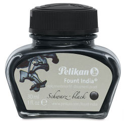 Pelikan Fount India Fountain Pen Drawing Ink - 1 oz, Black