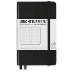 Leuchtturm1917 Notebook - Pocket Notebook, Black, Dotted, 6'' x 3-1/2''