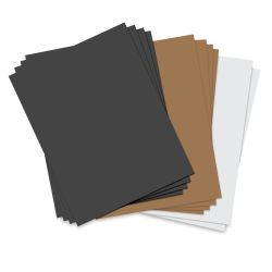 Sizzix Paper Leather Sheets - Assorted Basics, Pkg of 10, 8-1/2'' x 11''