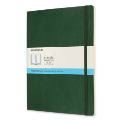 "Moleskine Classic Soft Cover Notebook - Metallic Green, Dotted, 9-3/4"" x 7-1/2"""