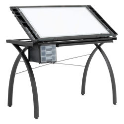 Studio Designs Artograph LightPad Table, Tilted, Side View