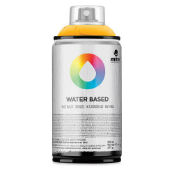 MTN Water Based Spray Paint - Azo Yellow Deep, 300 ml Can