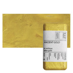R&F Encaustic Paint Block - Ancient Gold, 40 ml, Block