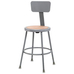 National Public Seating Corp. Fixed Height Stool - 30'', with Backrest