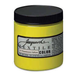 Jacquard Textile Color - Fluorescent Yellow, 8 oz jar