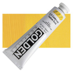 Golden Heavy Body Artist Acrylics - Cadmium Yellow Dark, 2 oz Tube