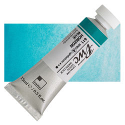 PWC Extra Fine Professional Watercolor - Horizon Blue, 15 ml, Swatch with Tube
