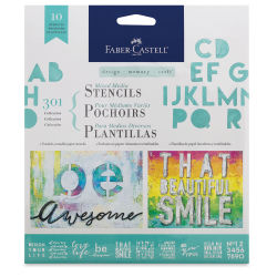 Faber-Castell Design Memory Craft Mixed Media Stencils - 301 Collection, Pkg of 10