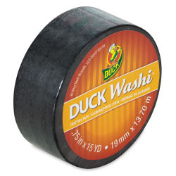 ShurTech Duck Washi Tape - Black, 3/4'' x 45 ft