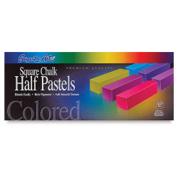 Square Chalk Pastels, 32 Half Sticks