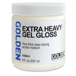 Golden Extra Heavy Acrylic Gel Medium - Gloss, 8 oz jar
