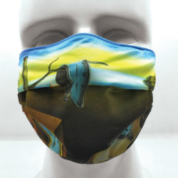 Today Is Art Day Reversible Face Masks-The Persistence of Memory/Dream