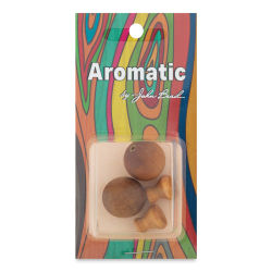 John Bead Aromatic Wooden Guru Beads - Sandalwood, 18 mm, Pkg of 2
